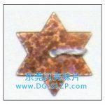 广东闪亮珠片14mm橙色六角星闪光亮片