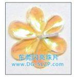 15mm六叶曲梅 尖椭圆形花瓣亮片