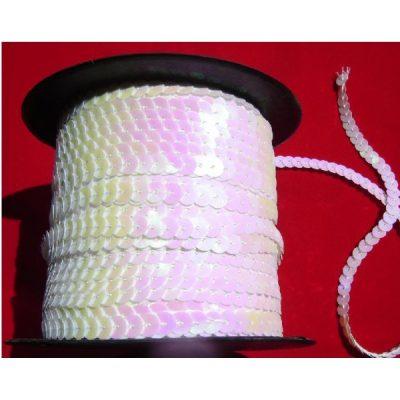 乳色亮片连线珠片乳色平片