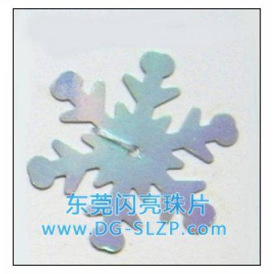 25mm彩色PVC/PET圣诞雪花亮片珠片